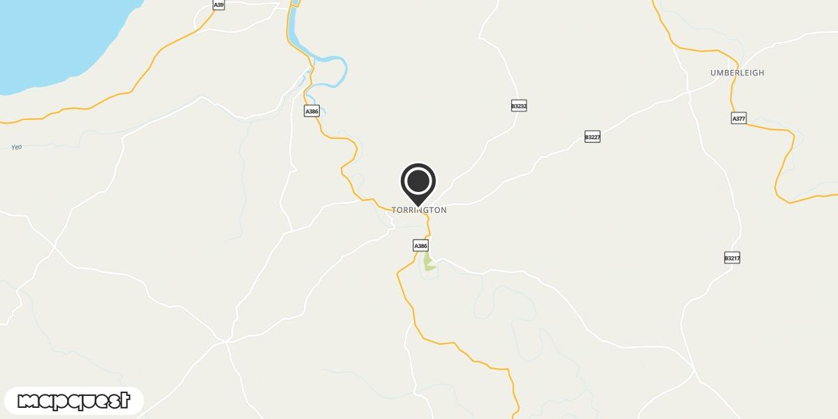 local map of watch repair drop off points in Torrington, Devon | Repairs by Post