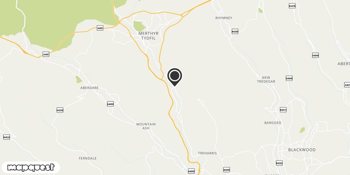 local map of watch repair drop off points in Troedyrhiw, Merthyr Tydfil   Repairs by Post