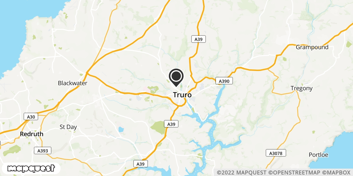 local map of watch repair drop off points in Truro, Cornwall | Repairs by Post