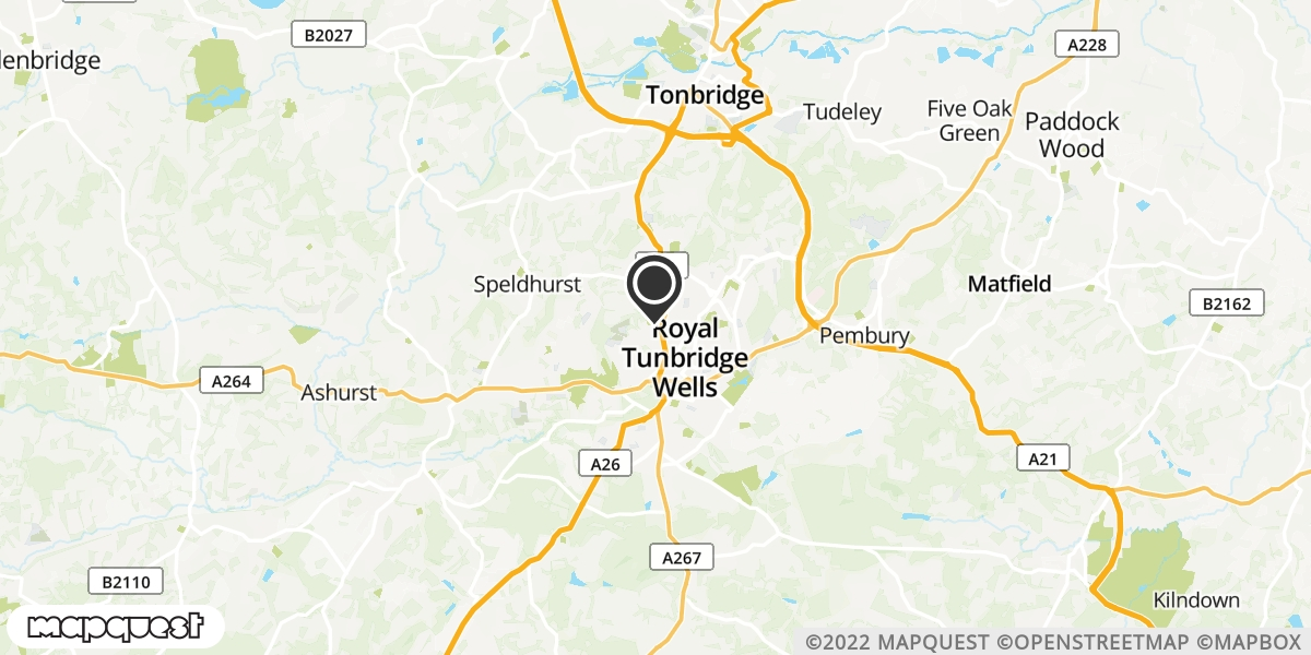 local map of watch repair drop off points in Tunbridge Wells, Kent | Repairs by Post
