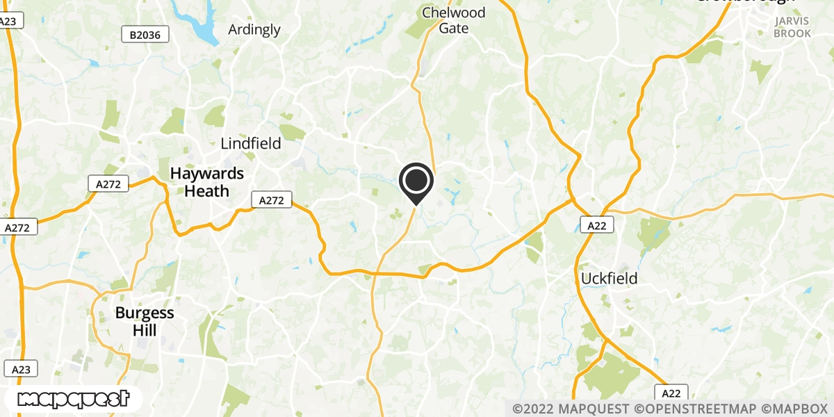 local map of watch repair drop off points in Uckfield, East Sussex | Repairs by Post