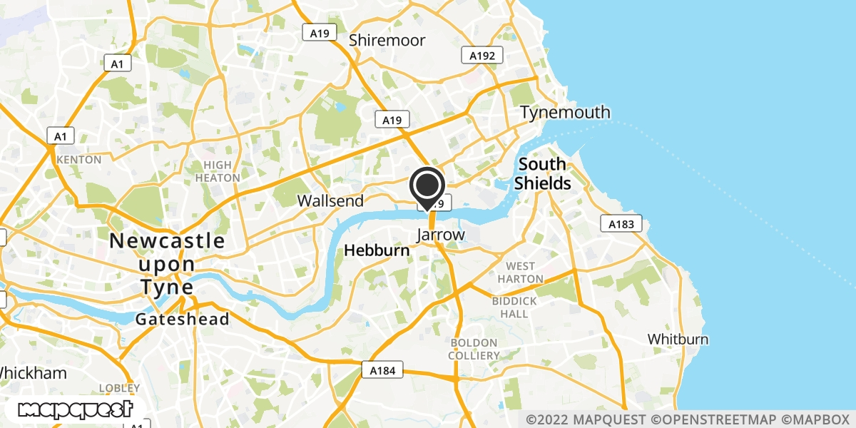 local map of watch repair drop off points in Wallsend, Tyne and Wear | Repairs by Post