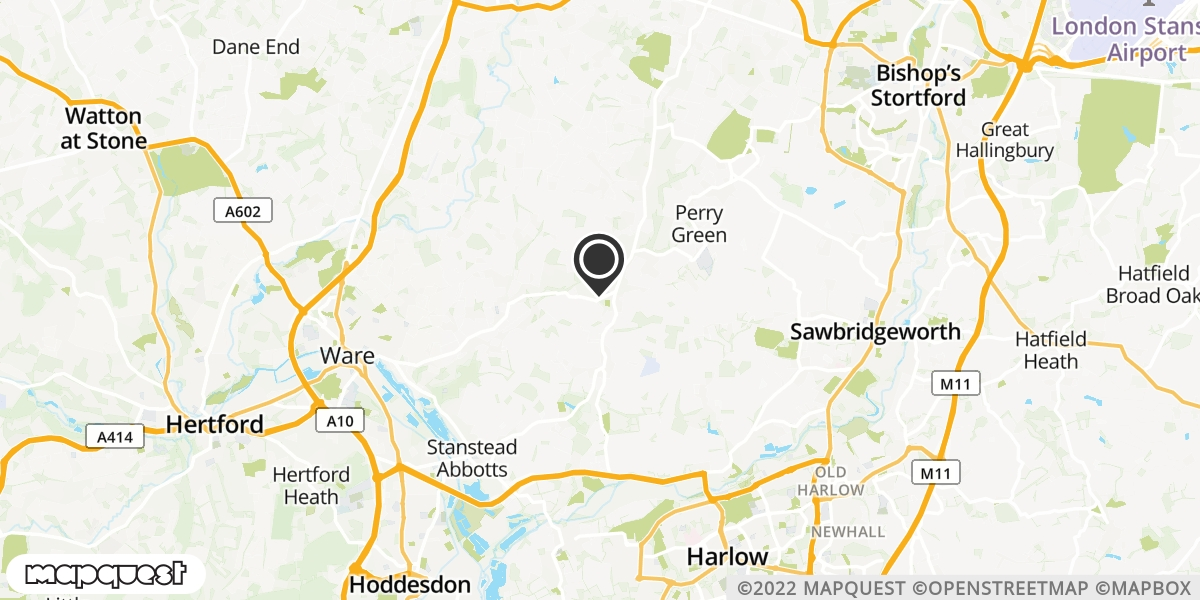 local map of watch repair drop off points in Ware, Hertfordshire | Repairs by Post