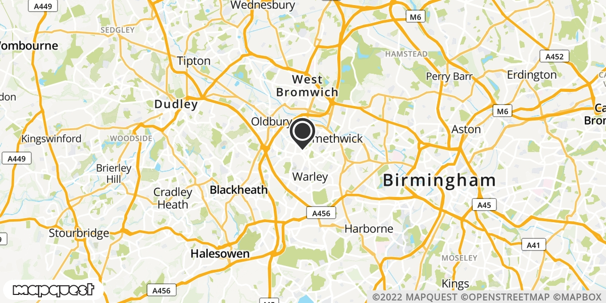 local map of watch repair drop off points in Warley, West Midlands | Repairs by Post