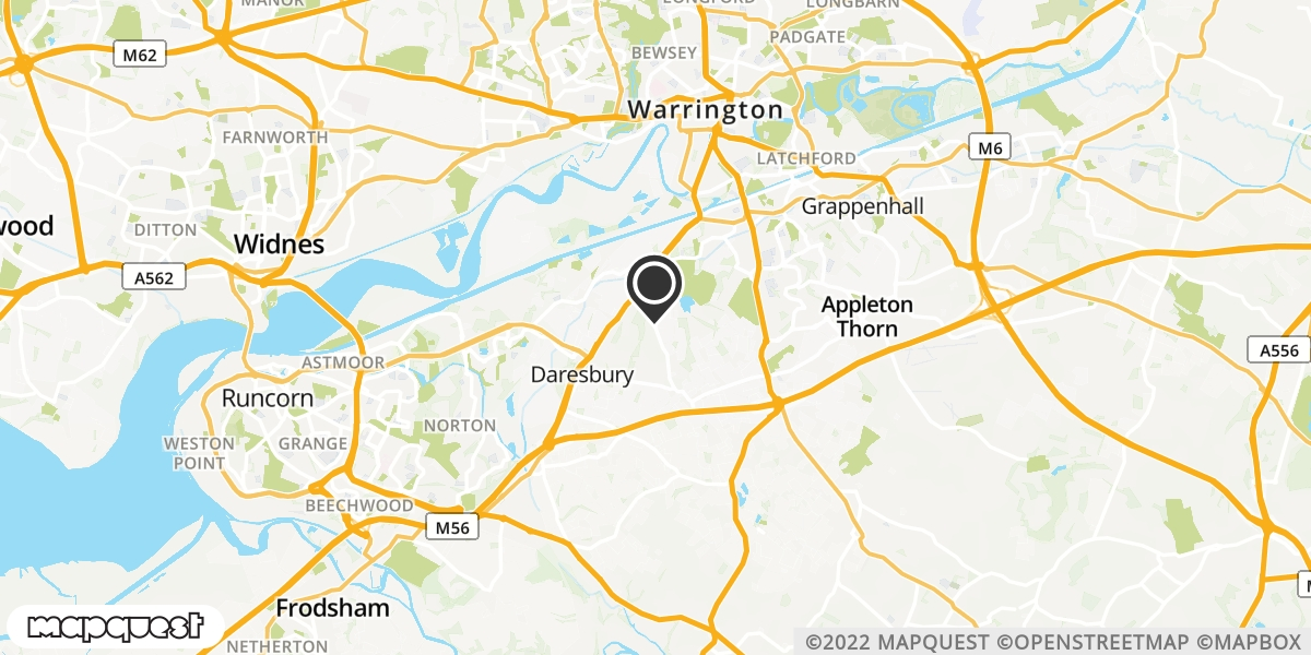 local map of watch repair drop off points in Warrington, Cheshire | Repairs by Post