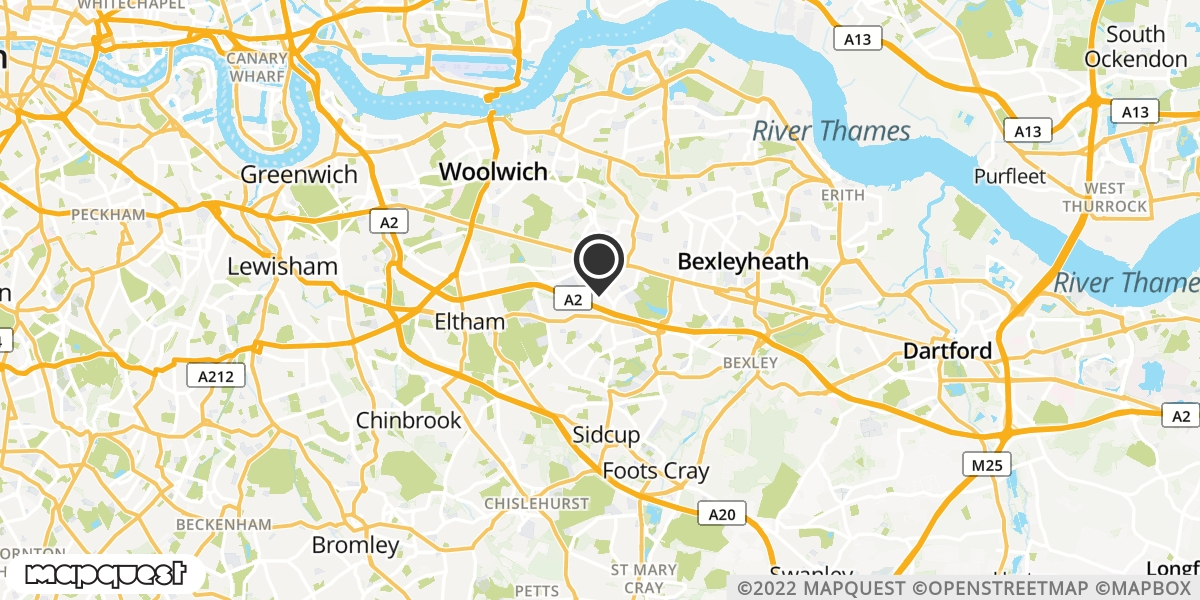 local map of watch repair drop off points in Welling, Kent | Repairs by Post