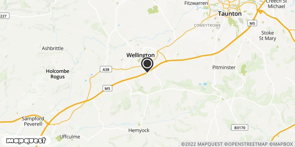local map of watch repair drop off points in Wellington, Somerset | Repairs by Post