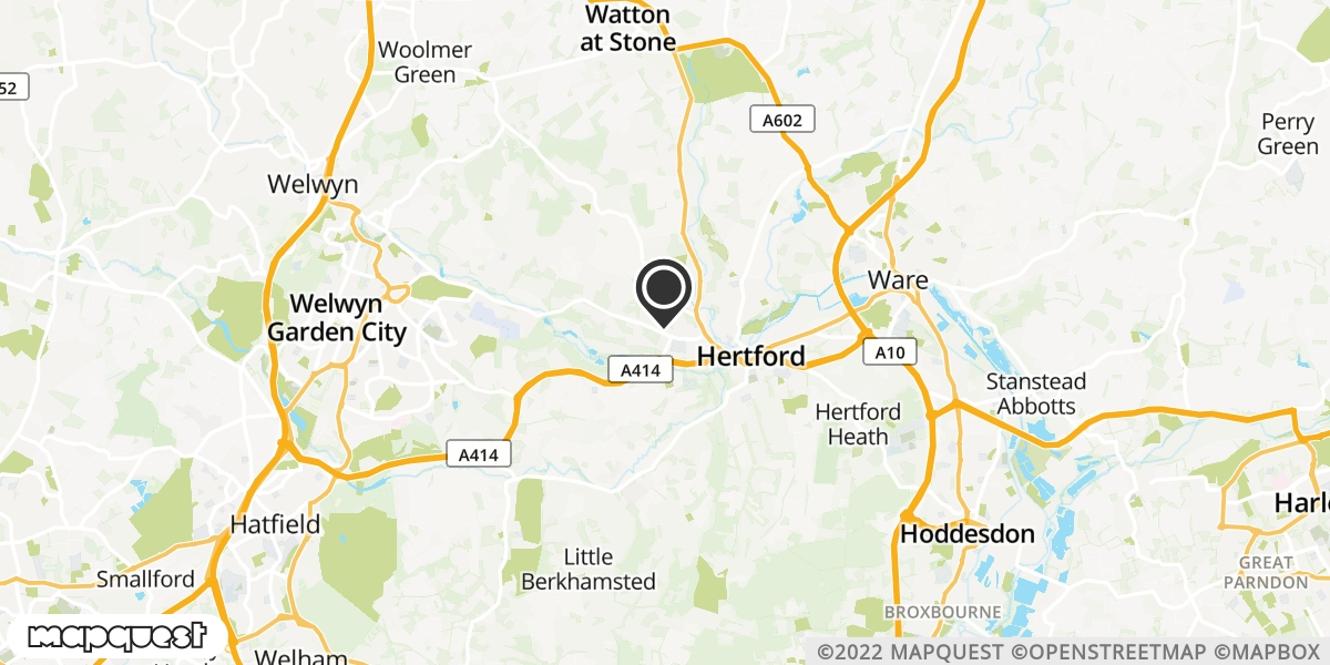 local map of watch repair drop off points in Welwyn, Hertfordshire | Repairs by Post