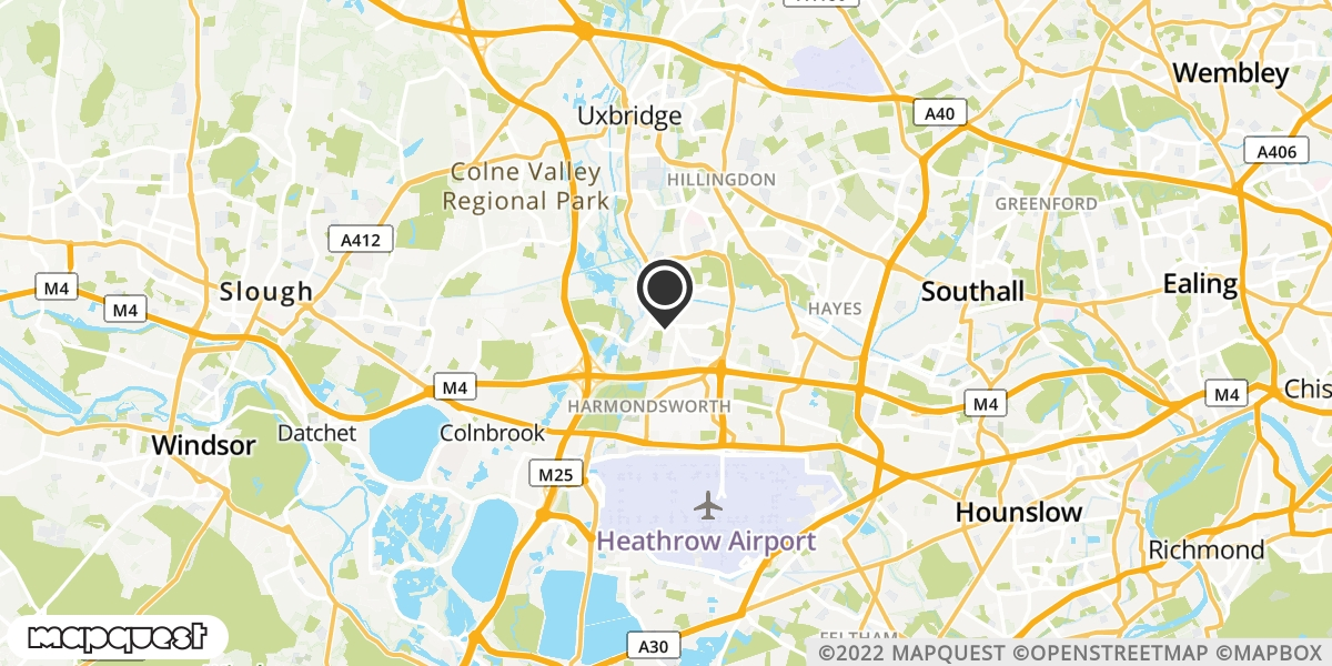 local map of watch repair drop off points in West Drayton, Middlesex | Repairs by Post