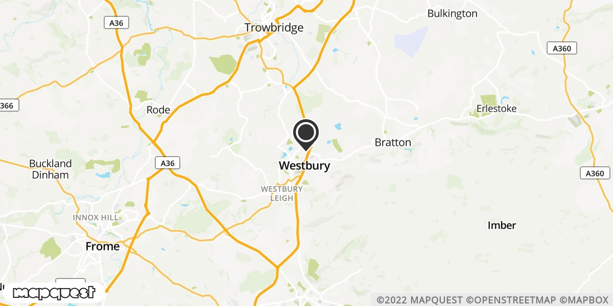 local map of watch repair drop off points in Westbury, Wiltshire | Repairs by Post