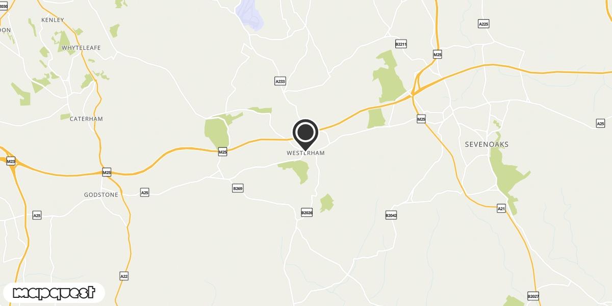 local map of watch repair drop off points in Westerham, Kent | Repairs by Post