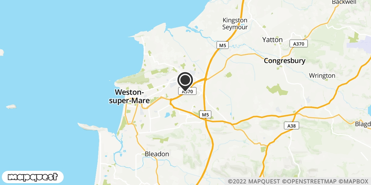 local map of watch repair drop off points in Weston Super Mare, Somerset | Repairs by Post
