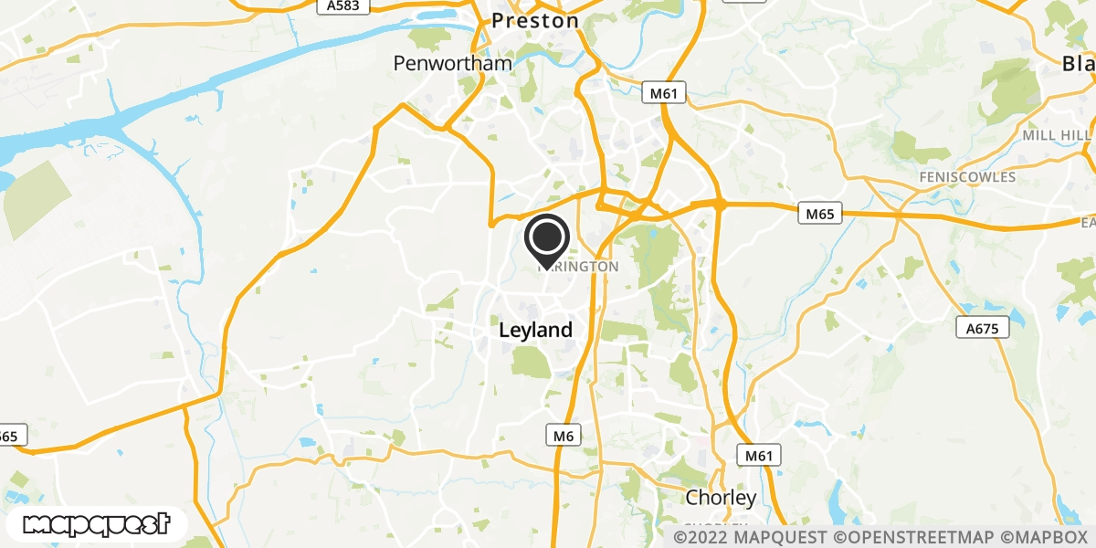 local map of watch repair drop off points in Wheelton, Lancashire | Repairs by Post