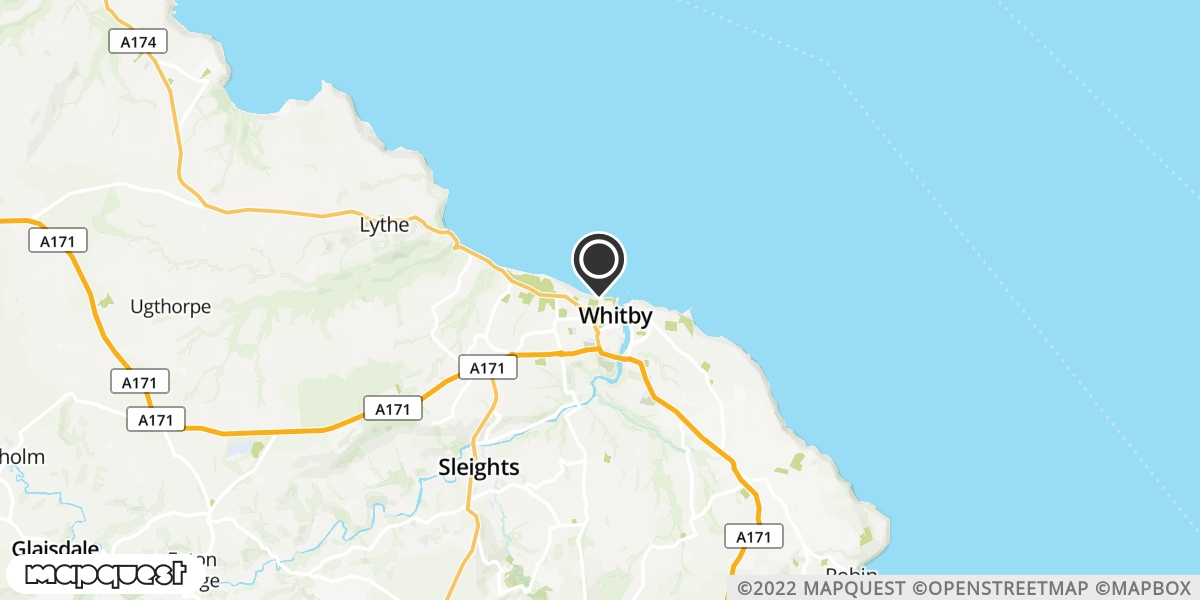 local map of watch repair drop off points in Whitby, North Yorkshire | Repairs by Post