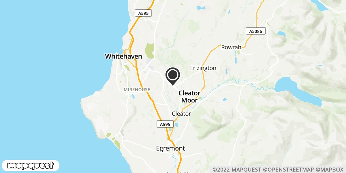 local map of watch repair drop off points in Whitehaven, Cumbria | Repairs by Post