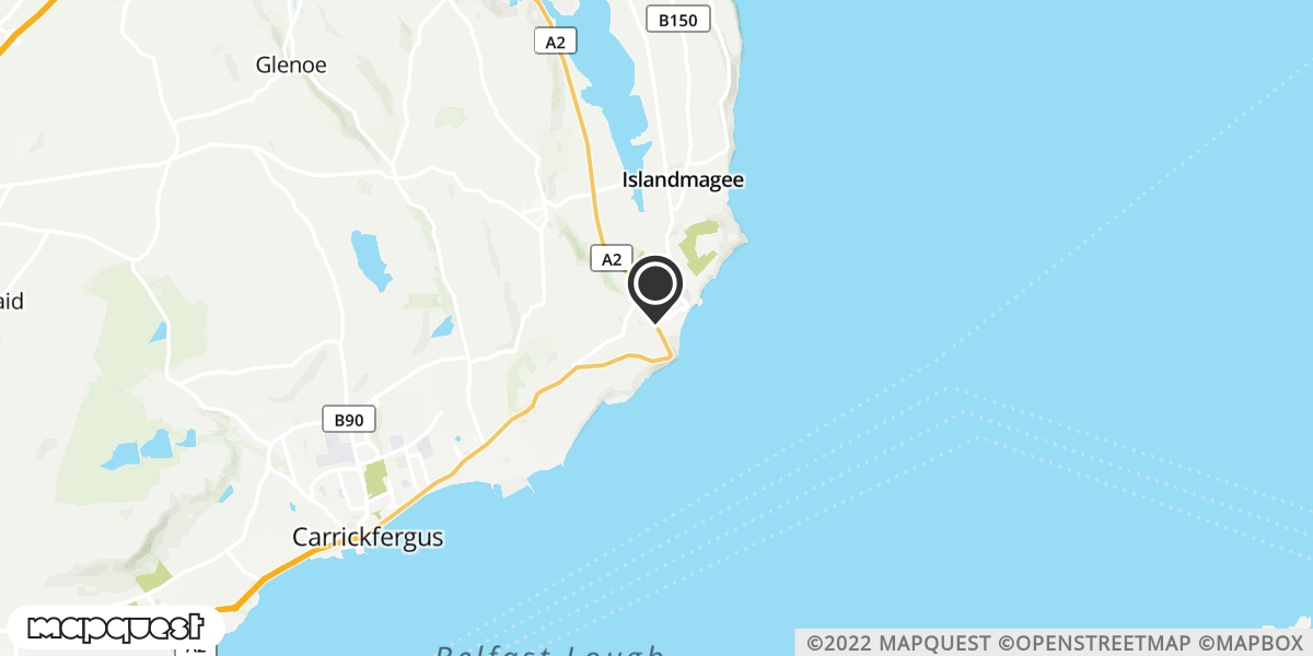 local map of watch repair drop off points in Whitehead, County Antrim | Repairs by Post