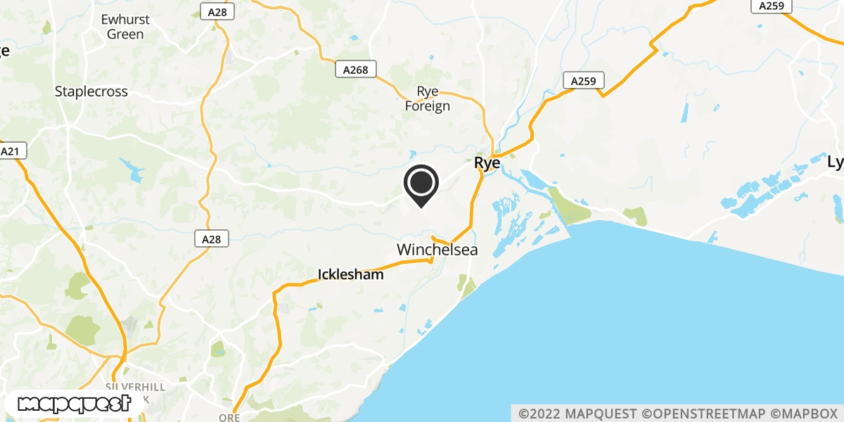 local map of watch repair drop off points in Winchelsea, East Sussex | Repairs by Post