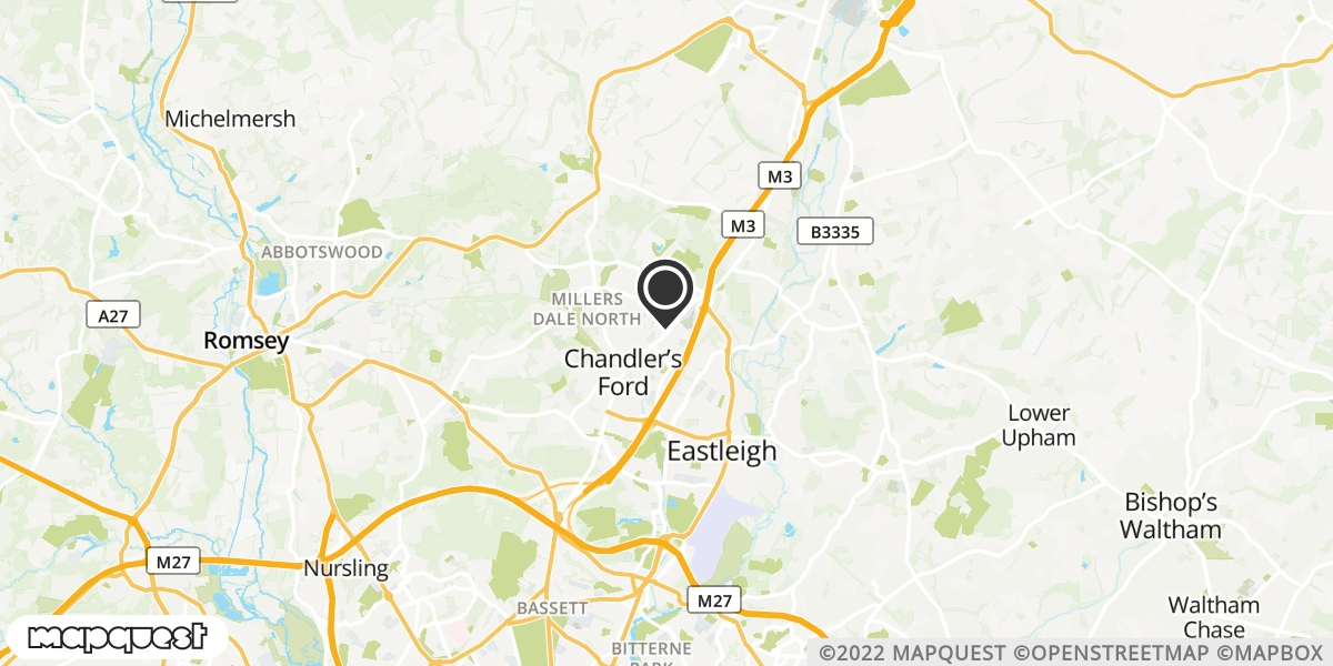 local map of watch repair drop off points in Winchester, Hampshire | Repairs by Post