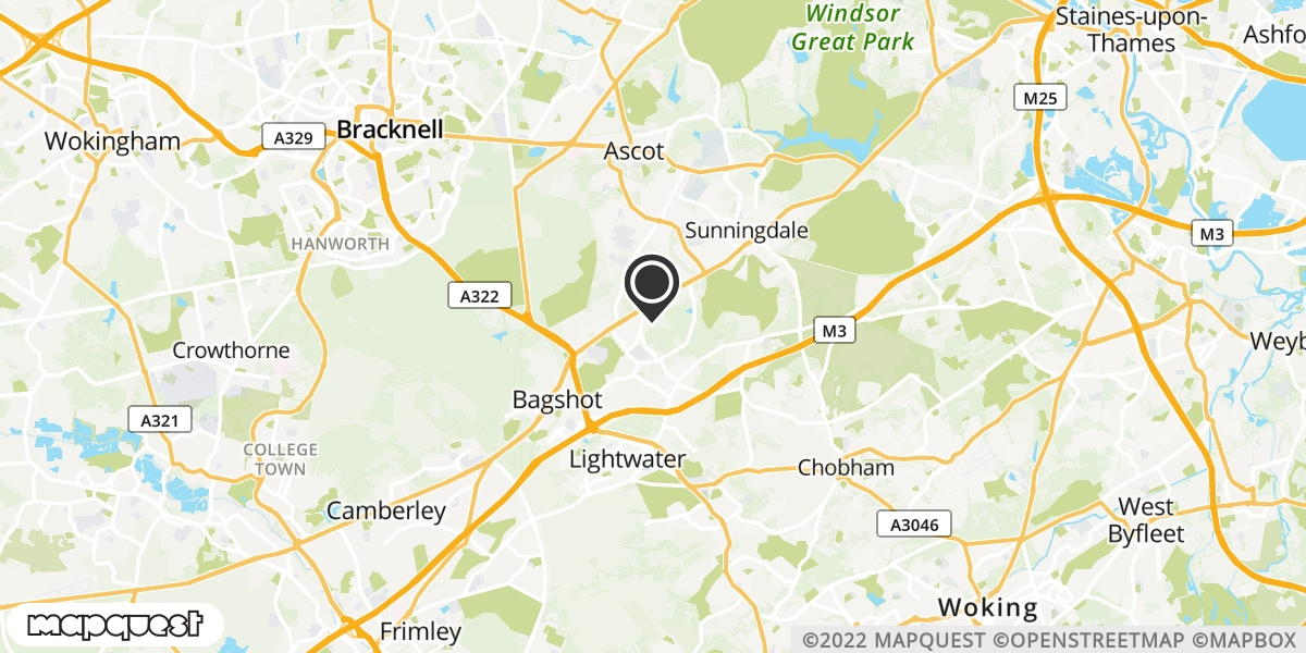 local map of watch repair drop off points in Windlesham, Surrey | Repairs by Post