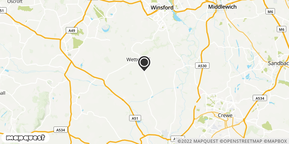 local map of watch repair drop off points in Winsford, Cheshire | Repairs by Post