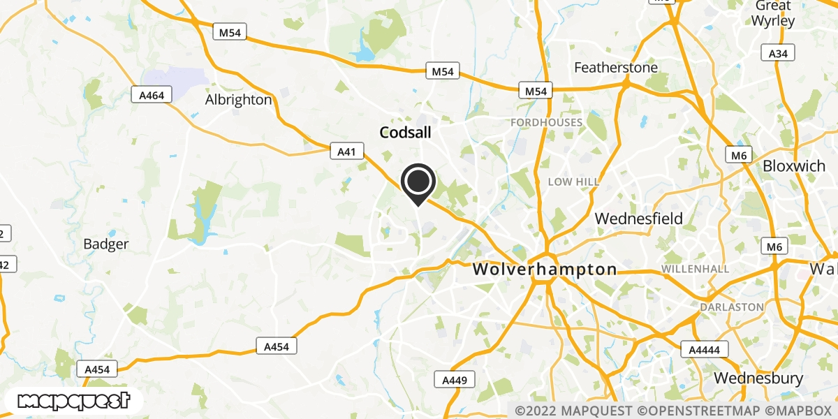 local map of watch repair drop off points in Wolverhampton, West Midlands | Repairs by Post