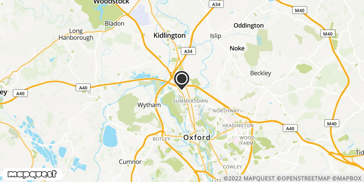 local map of watch repair drop off points in Woodstock, Oxfordshire | Repairs by Post