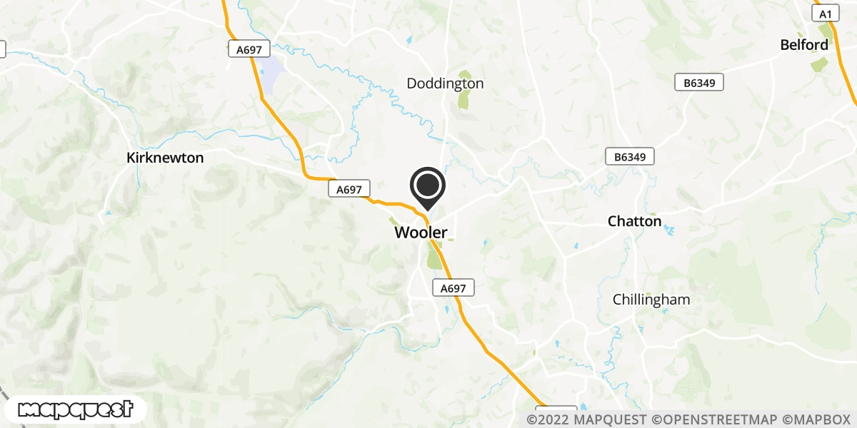 local map of watch repair drop off points in Wooler, Northumberland | Repairs by Post