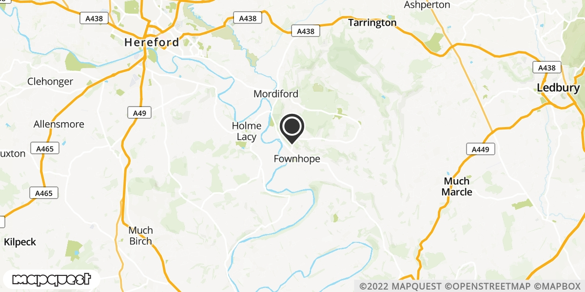 local map of watch repair drop off points in Woolhope, Herefordshire | Repairs by Post