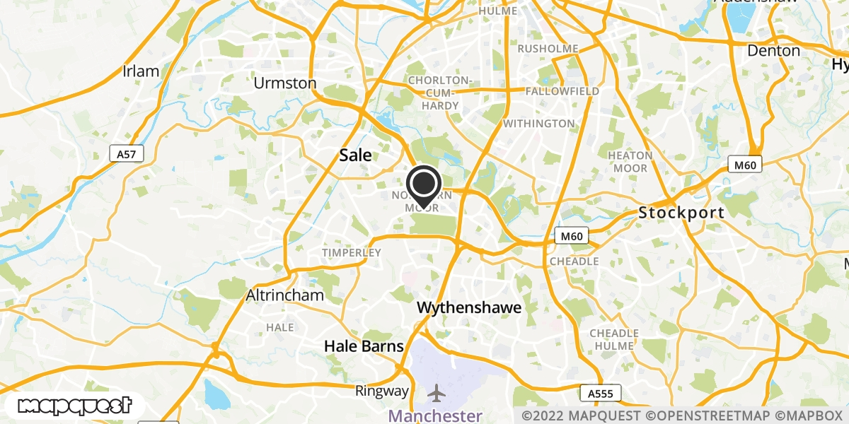 local map of watch repair drop off points in Wythenshawe, Lancashire | Repairs by Post