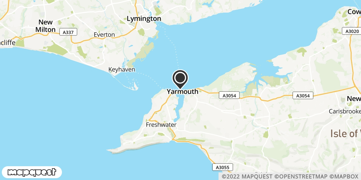 local map of watch repair drop off points in Yarmouth, Isle of Wight | Repairs by Post