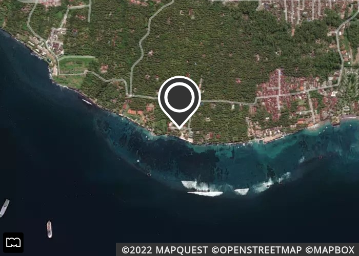 Map of Crystal Beach Bali