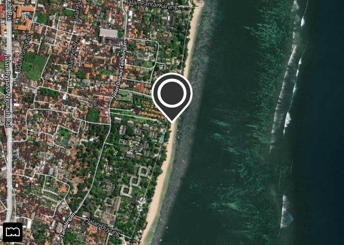 Map of Warung Pantai Indah
